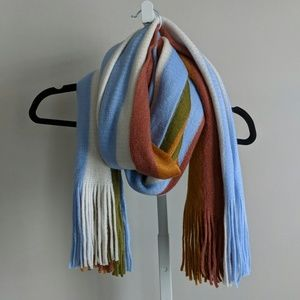 Madewell color stripe scarf